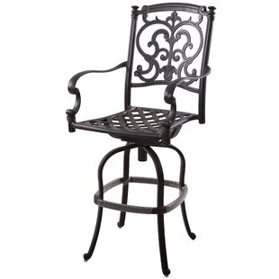 Palazzo Sasso Patio Swivel Bar Stool with Cushion (Set of 4) (Set of 4)