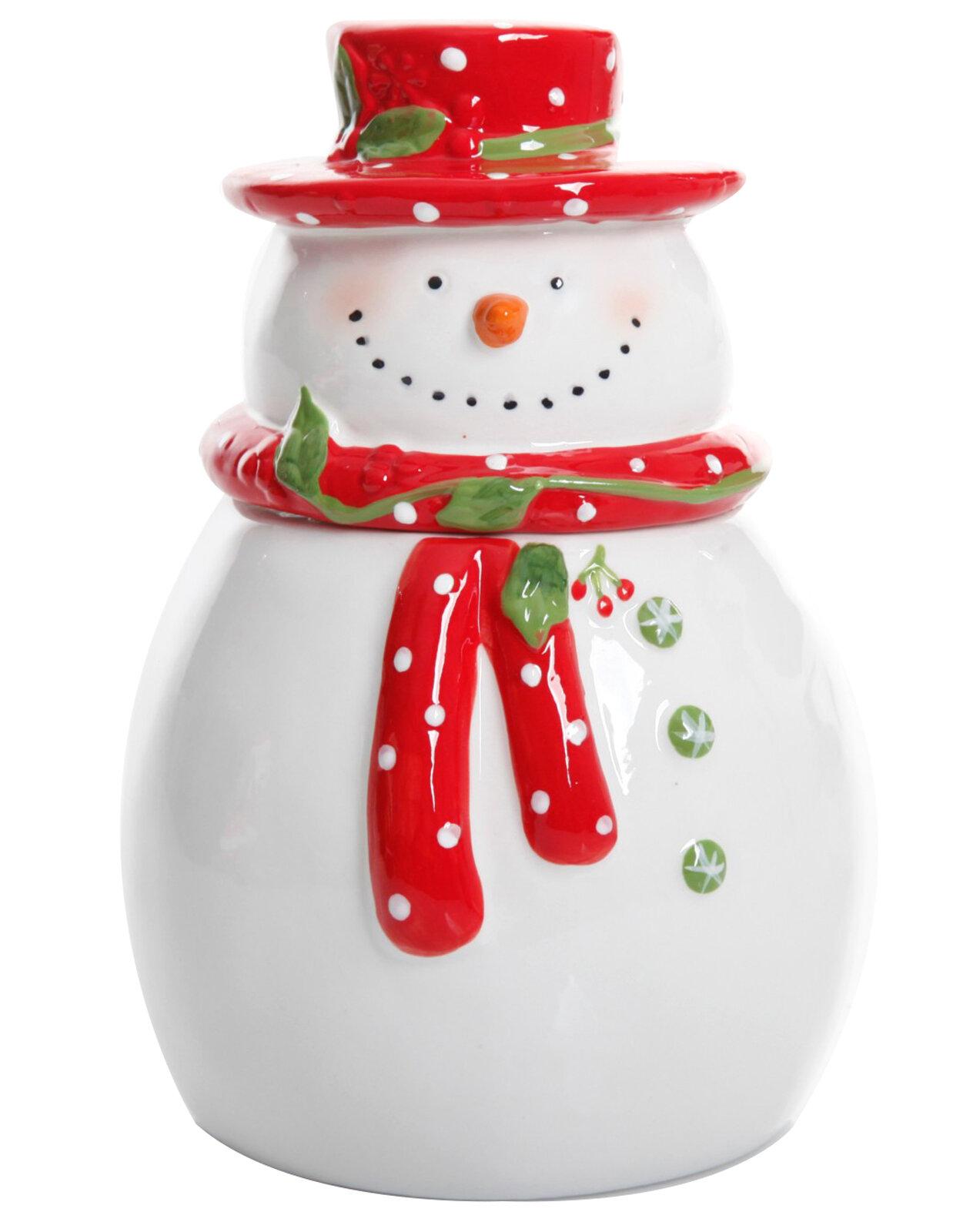 The Holiday Aisle Snowman Cookie Jar Reviews Wayfair
