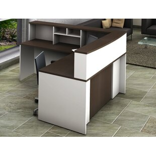 4 Piece L-Shape Desk Office Suite by OfisLite No Copoun