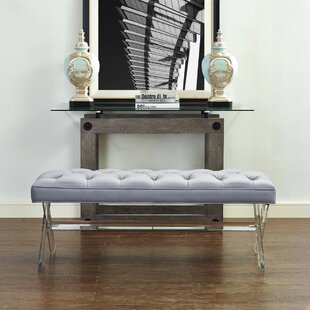 Dee Grey Lucite Bench by Everly Quinn Best