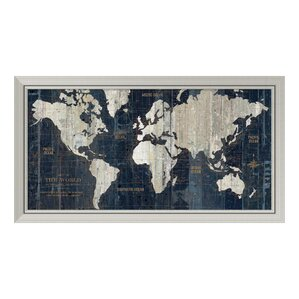 Attractive World Map Framed Art Youu0027ll Love | Wayfair
