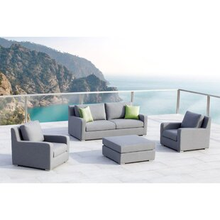 Savings Royal 4 Piece Sunbrella Sofa Set with Cushions Great deals