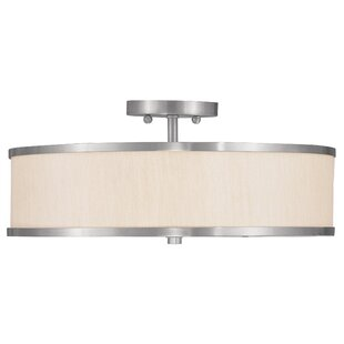 Cana 3-Light Semi Flush Mount by Latitude Run