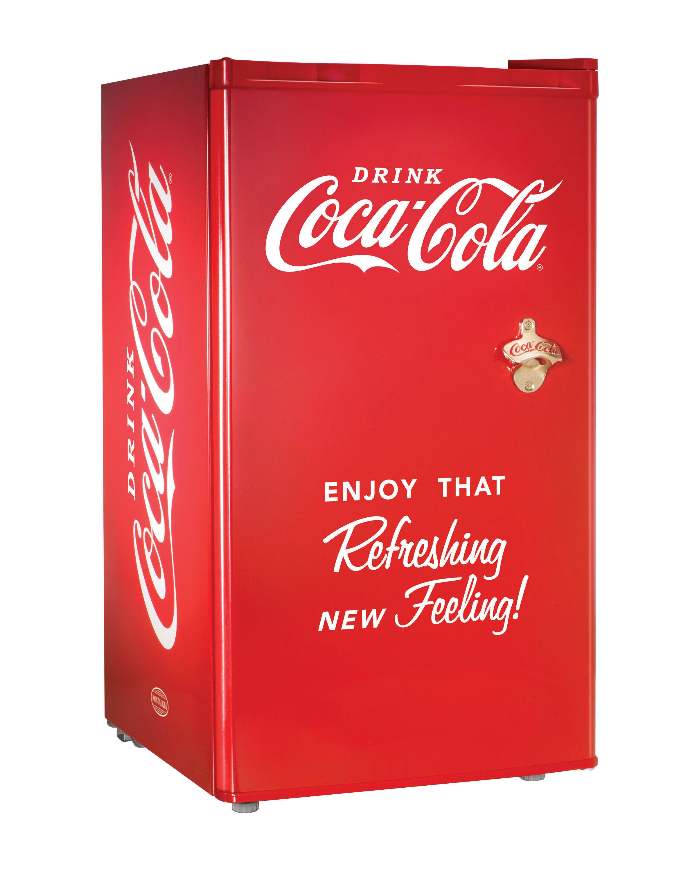 fe0b8df99ce2 Nostalgia Electrics Coca-Cola Series 3.2 cu. ft Compact Refrigerator with  Freezer   Reviews