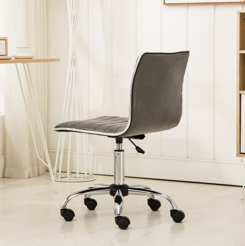 Wrought Studio Shrum Chrome Adjustable Air Lift Office Mid-Back Desk on spring office chair, lightweight office chair, modern office chair, eco friendly office chair, iron office chair, flexible office chair, rugged office chair, powerful office chair, adjustable glider chairs, nylon office chair, magnetic office chair, elastic office chair, square office chair, glass office chair, adjustable chairs stools, box office chair, self adjusting office chair, fully reclinable office chair, solid office chair, sliding office chair,