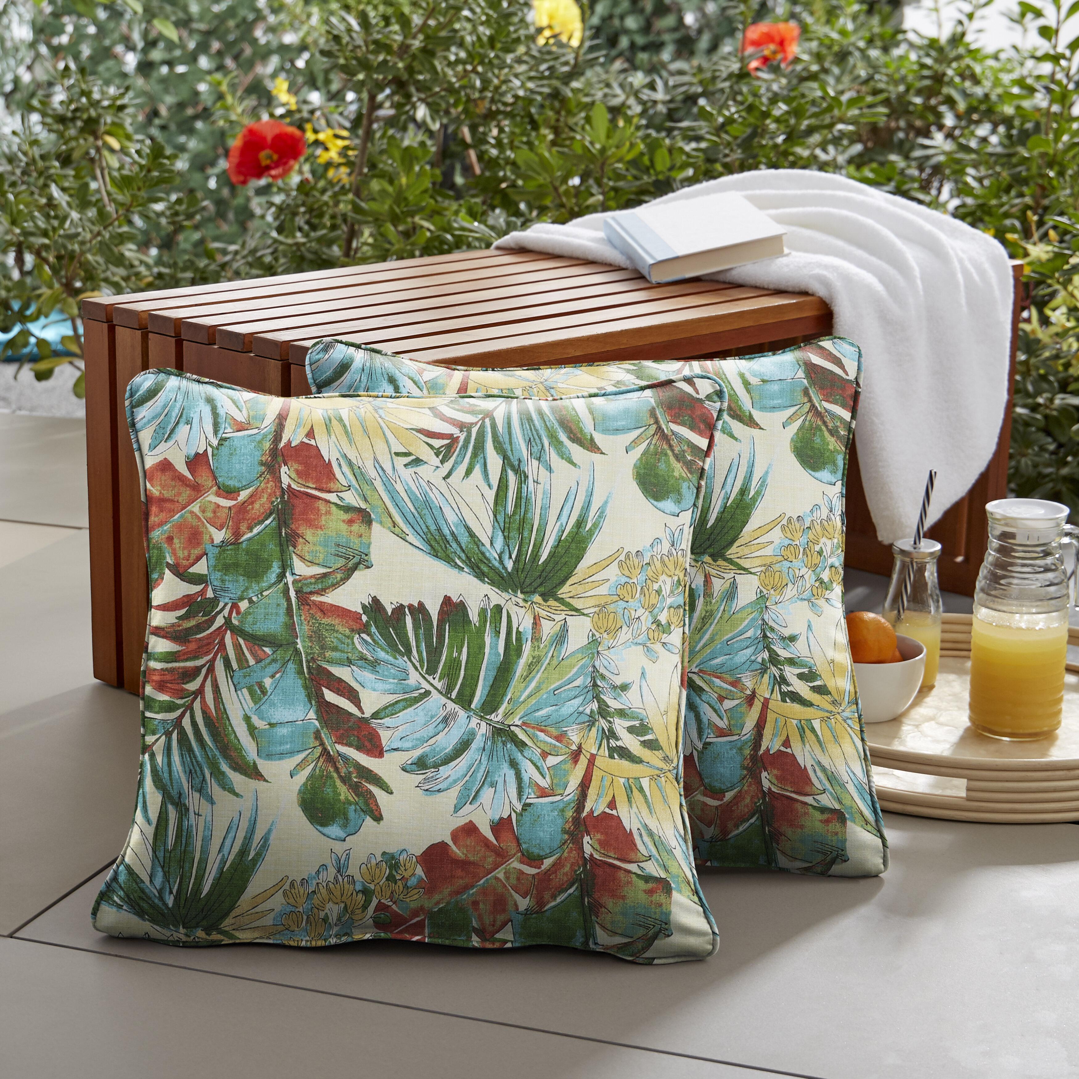 Bayou Breeze Aaliyah Indoor Outdoor Floral Throw Pillow Wayfair