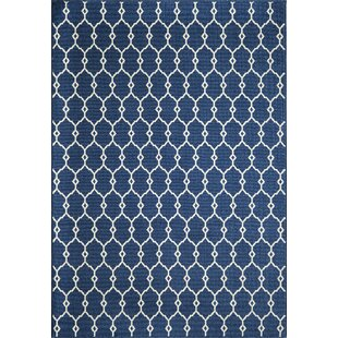 Halliday Ivory/Navy Indoor/Outdoor Area Rug