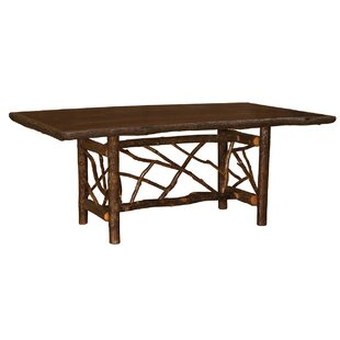 Hickory Twig Log Dining Table by Fireside Lodge