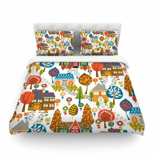 In the Village by Agnes Schugard Featherweight Duvet Cover