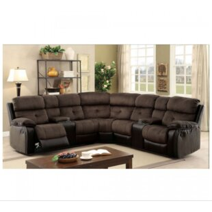 Great price Holmquist Reclining Sectional Red Barrel Studio