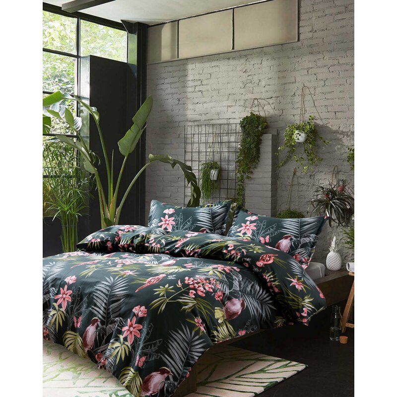 Paradise Twin Tropical  Palm Motif Bedspread New In Packaging