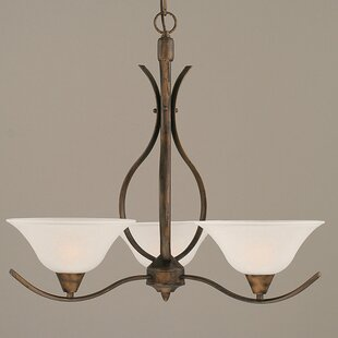 Inexpensive Demi 3-Light Shaded Chandelier By Red Barrel Studio