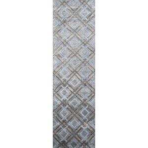 Brooks Hand-Tuftedu00a0Silver Area Rug