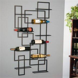 Wrought Studio Darren Mid Century 10 Bottle Wall Mounted Wine Rack
