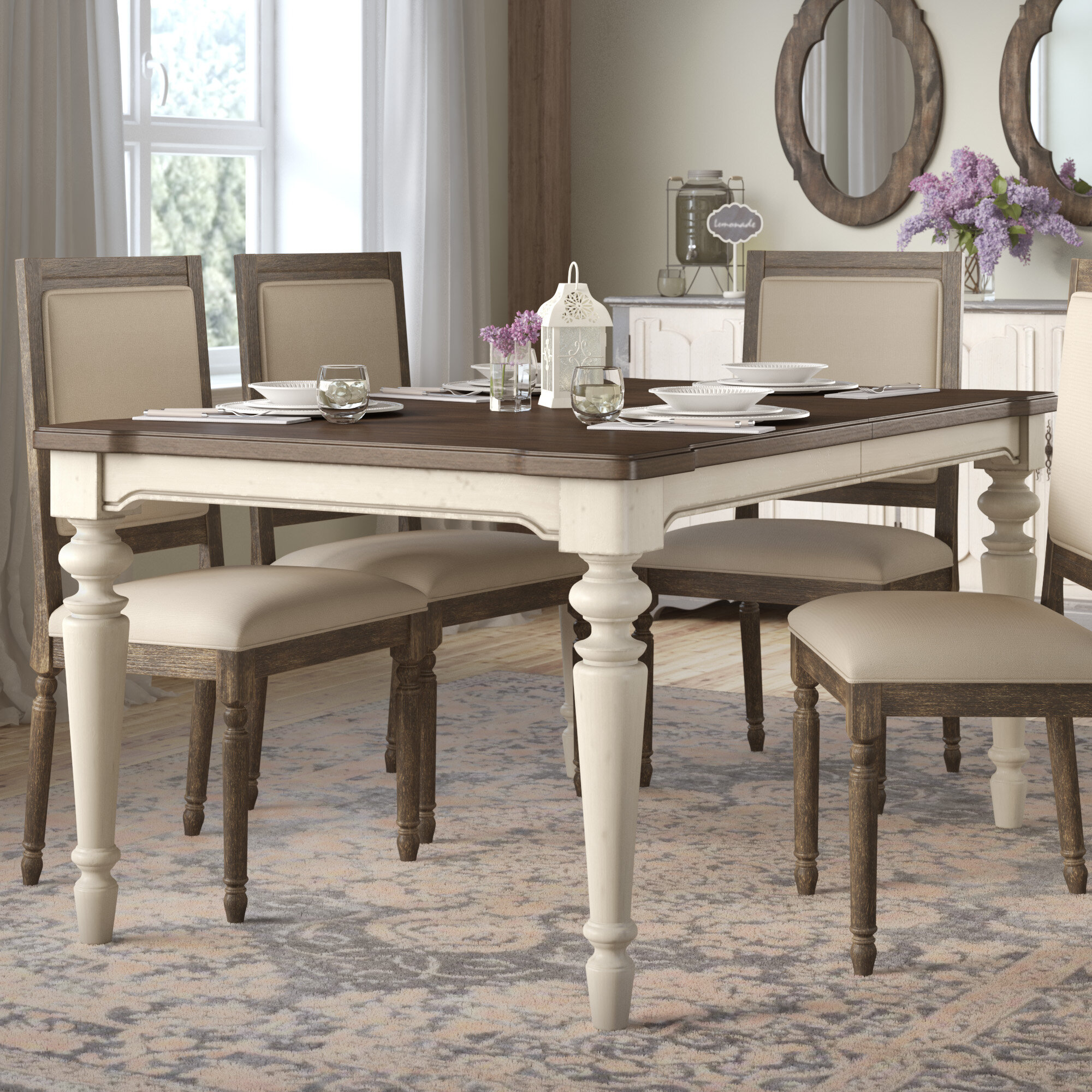 Lark manor ornithogale extendable dining table reviews wayfair