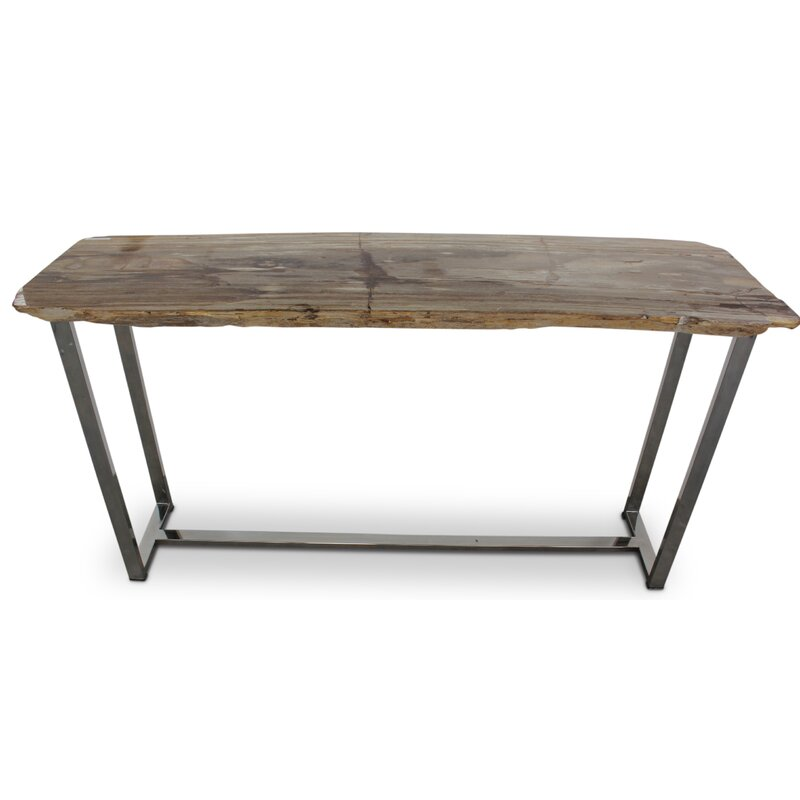 Union Rustic Plympton Raw Edge Console Table Wayfair