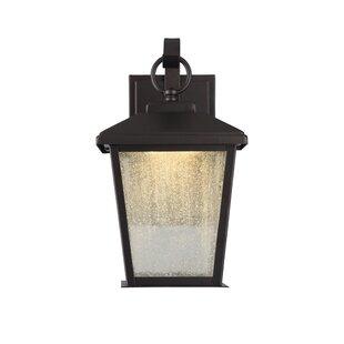 Alcott Hill Brass Cannon 1-Light Outdoor Wall Lantern