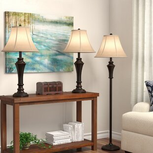 Tasker 3 Piece Table and Floor Lamp Set