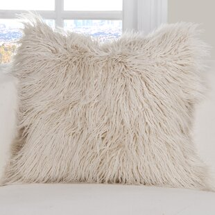 Maguire Faux Fur Throw Pillow