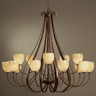 Hubbardton Forge 15-Light Shaded Chandelier