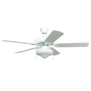 52 Alana Tri-Mount 5 Blade Smart Ceiling Fan, Light Kit Included