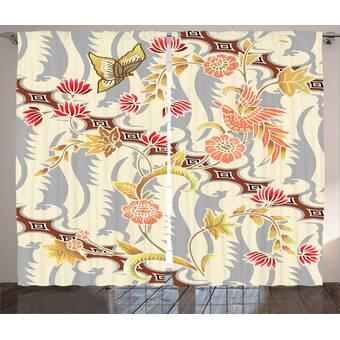Astoria Grand Pelley Ombre Crushed Semi Sheer Rod Pocket Curtain Panels Reviews Wayfair