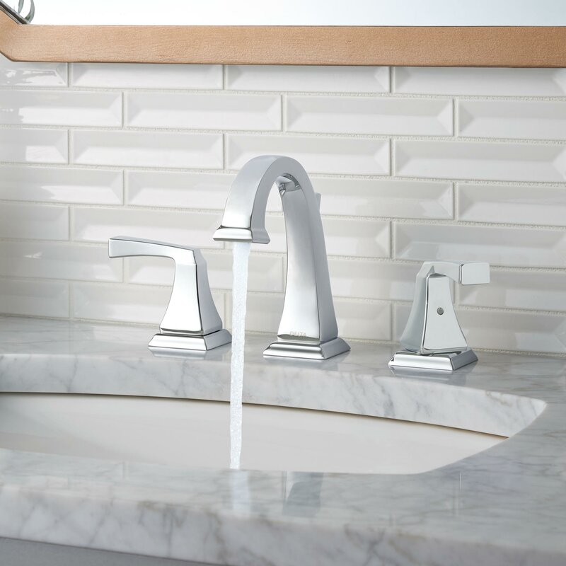 Delta Dryden Widespread Bathroom Faucet with Drain Assembly and