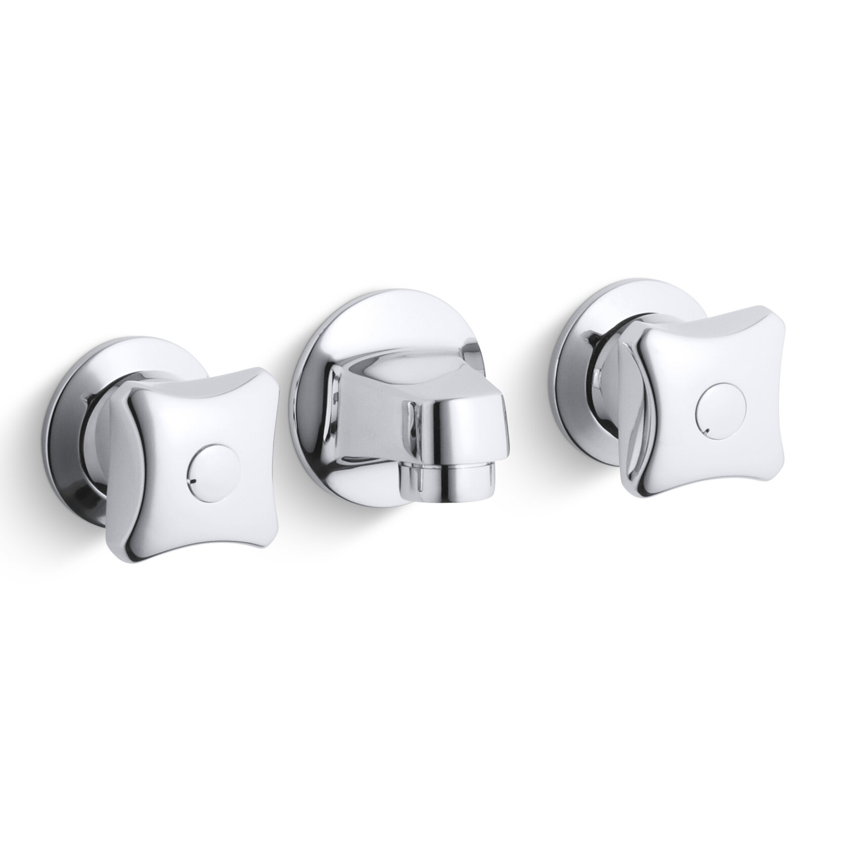 Kohler Triton Shelf Back Commercial Bathroom Sink Faucet With Grid Drain And Standard Handles Wayfair