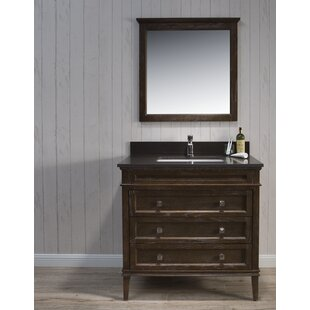 Best Choices Briese Traditional 37 Single Bathroom Vanity Set with Mirror By Wrought Studio
