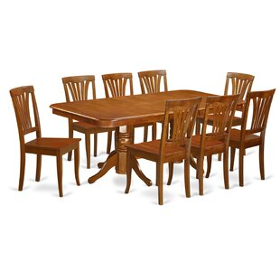 Pillsbury 9 Piece Dining Set with Rectangular Table Top August Grove