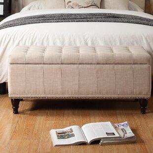 Charlton Home Jaquez Upholstered Storage Bench