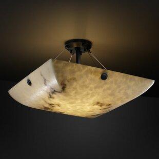 Brayden Studio Keyon 3-Light Semi Flush Mount