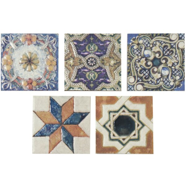 Hand Painted Tiles Youll Love Wayfair - 3 inch square ceramic tiles