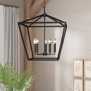 Indigo 4-Light Lantern Chandelier by Andover Mills