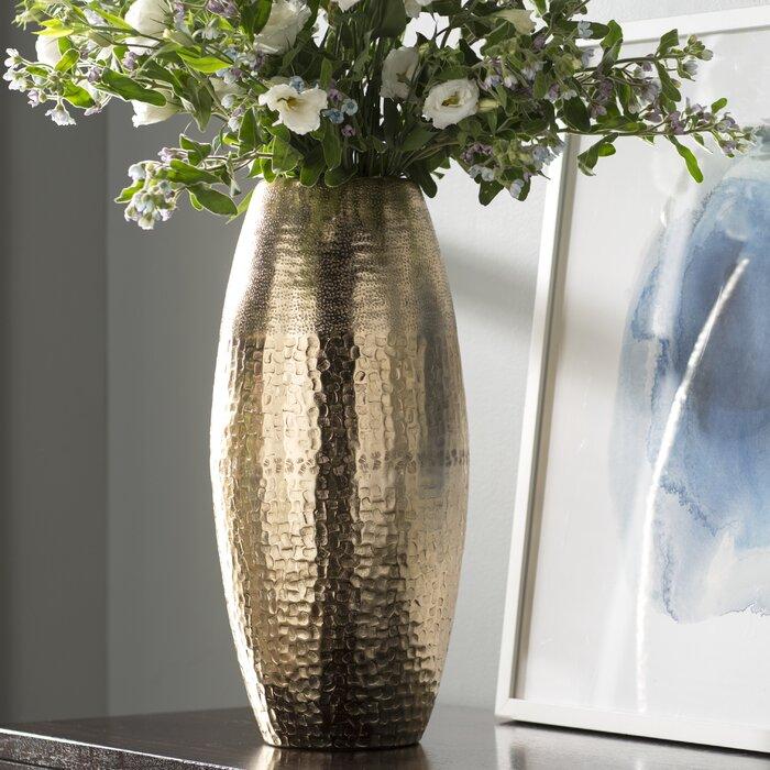 Glossy Gold Floor Vase