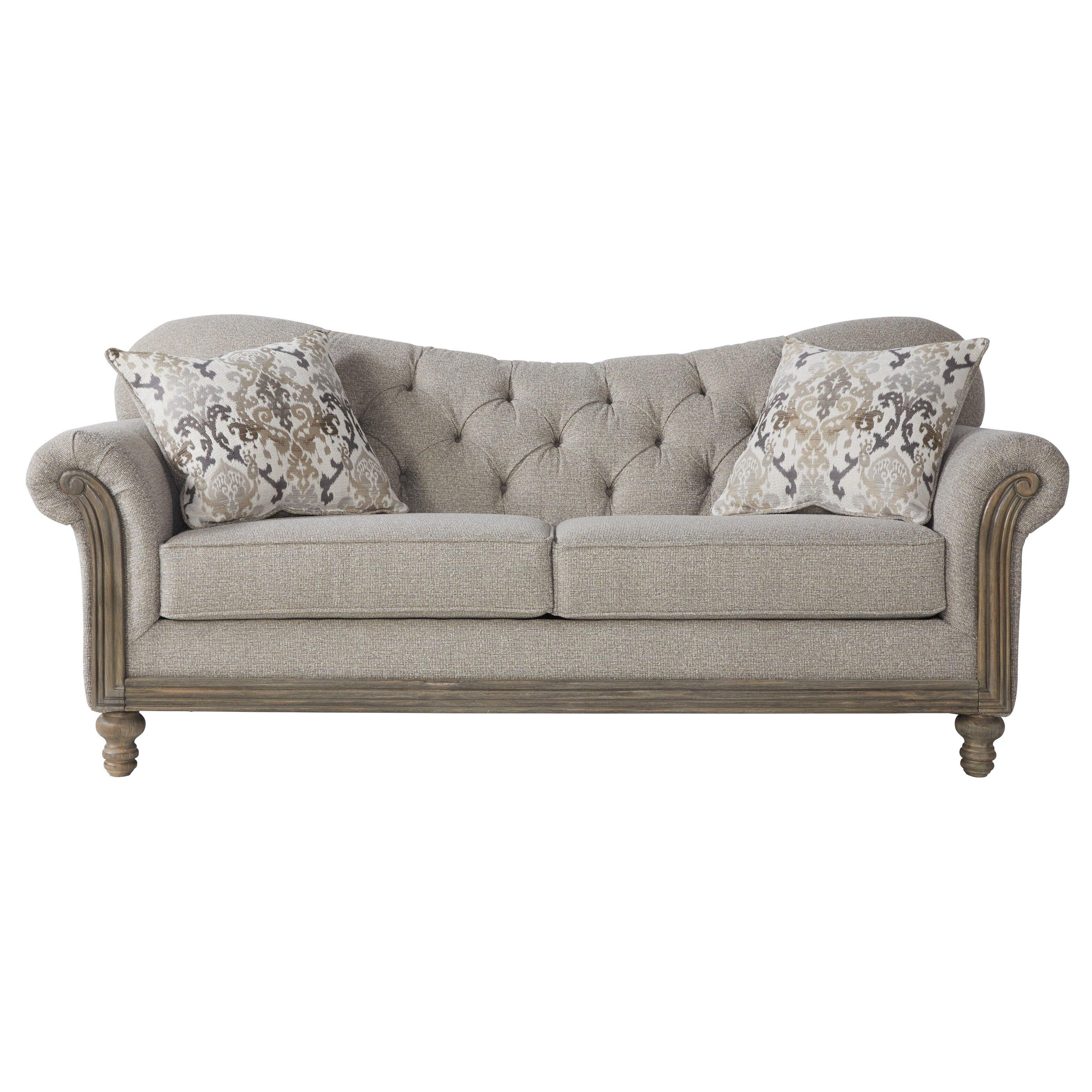 Larrick Fabric Tufted Standard Sofa