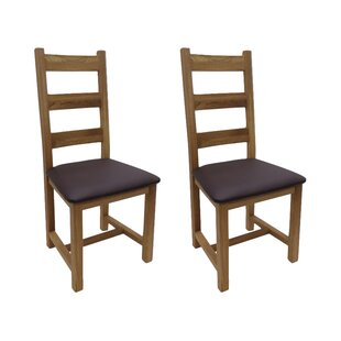 Solid Oak Upholstered Dining Chair (Set Of 2) By ClassicLiving