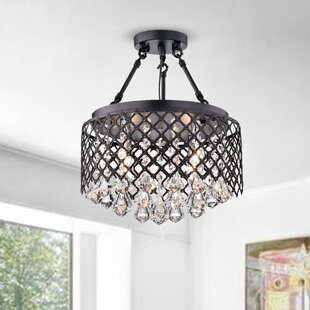 Genevre 4-Light Semi Flush Mount by Willa Arlo Interiors