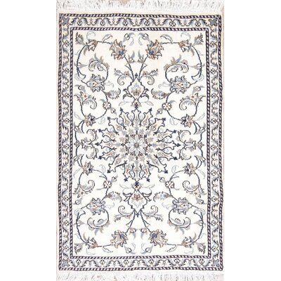 Wadhurst Ivory Floral Nain Persian Style Wool Rug 4 7 X 2 11 Darby Home Co
