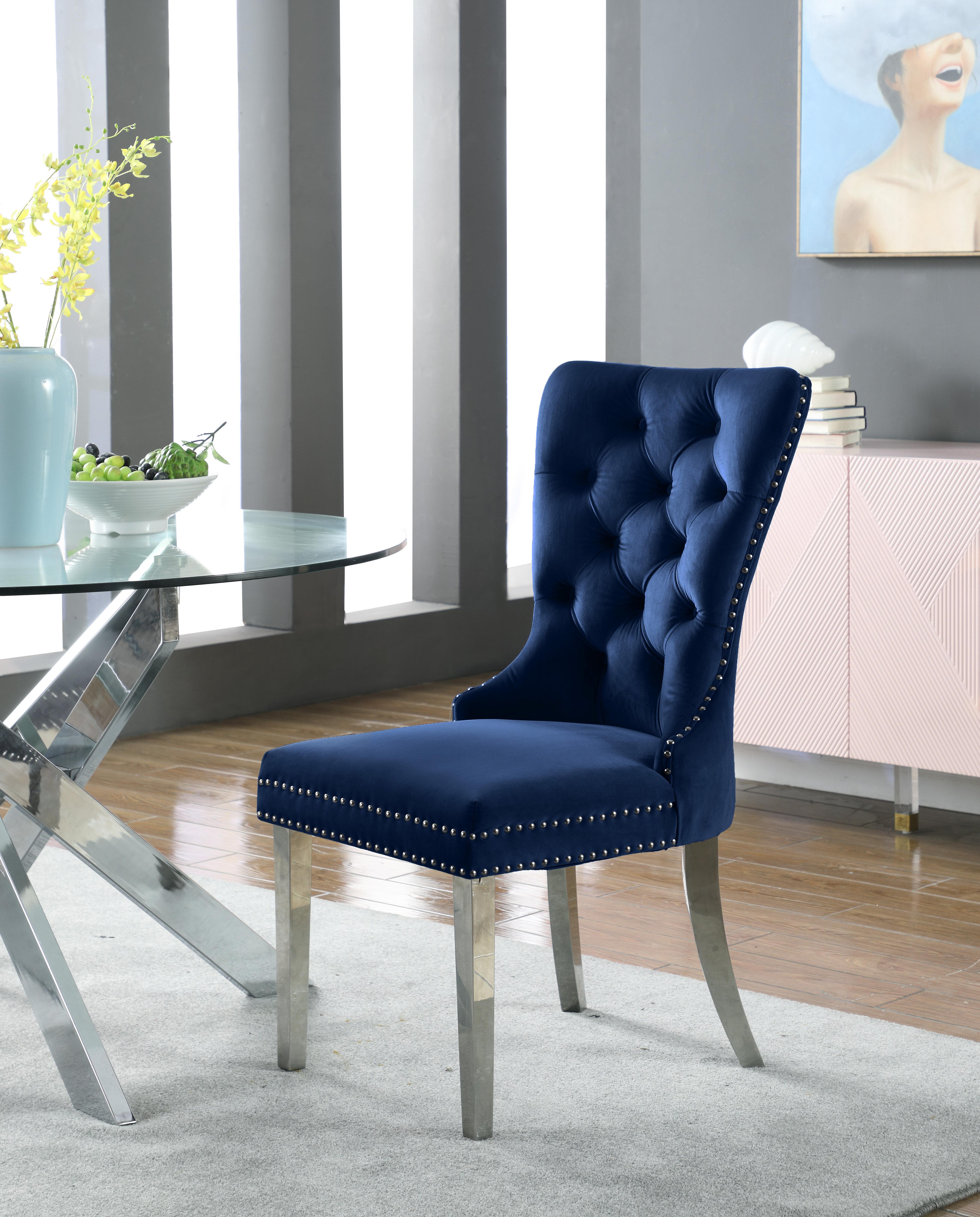 Rosdorf Park Rosado Tufted Velvet Upholstered Side Chair Reviews Wayfair