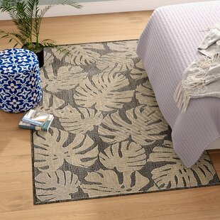 Stillwater Fronds Gray/Beige Indoor/Outdoor Area Rug
