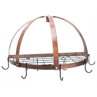 Half Dome Wall Mounted Pot Rack with Grid