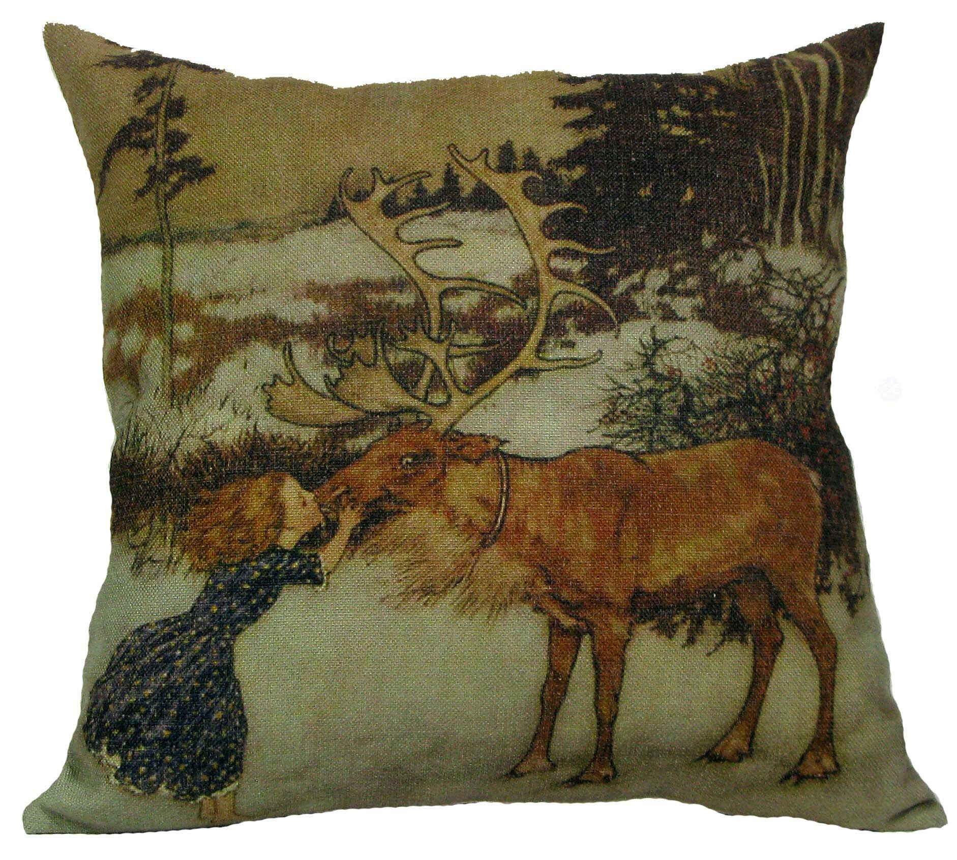 The Holiday Aisle Lilie Gerta And Reindeer Pillow Cover Reviews Wayfair