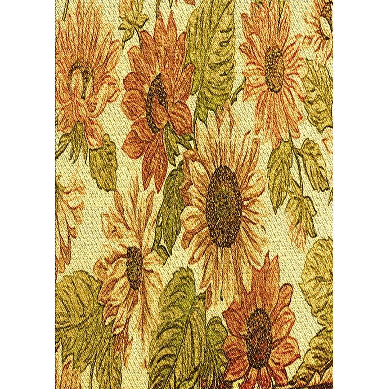 East Urban Home Danika Floral Wool Yellow Area Rug Wayfair