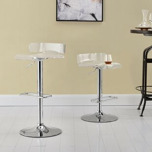 Coppage Adjustable Height Bar Stool (Set of 2) by Orren Ellis