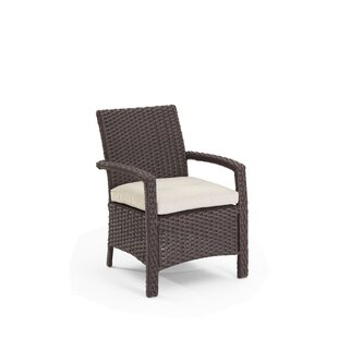 Aurora Traditional Patio Dining Chair with Cushions