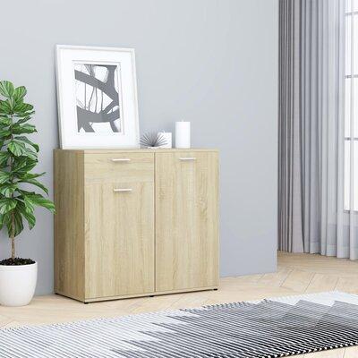 "Ebern Designs Aldolphus 31.5"" Wide 1 Drawer Sideboard  Color: Sonoma Oak"