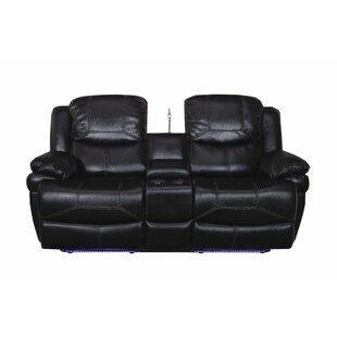 Carina Dual Reclining Console Loveseat