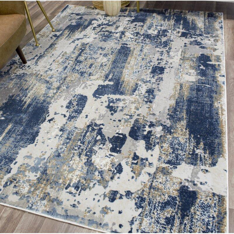 Astor Vintage Sapphire Blue Gray Area Rug Amp Reviews Joss