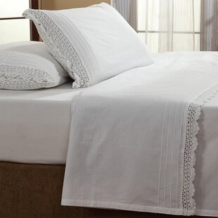 Amity Home Dainty Crochet 200 Thread Count 100% Cotton Sheet Set